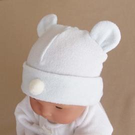 新生児 ベビー お帽子 キャップ フード 赤ちゃん 日本製 防寒