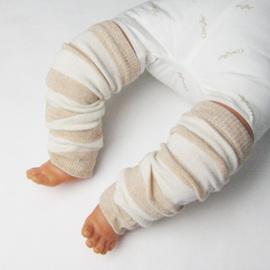 オーガニックコットン ベビー用レッグウォーマー 新生児 日本製