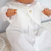 春秋素材 タキシードタイプのベビー用セレモニードレス2点セット!お宮参り退院時におすすめ!