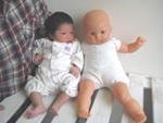 新生児 ベビードレスのモデル